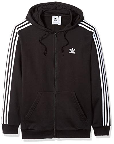 Men's Classic Adidas Originals Three Stripe Zip Hoodie, XS to XXL