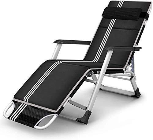 Patio Lounger Liegestuhl Relax Lounge Chairs, Faltbare Schwerelosigkeits-Chaiselongue Mit Verstellbaren Kopfstützenkissen Robuste Und Langlebige Unterstützung 400 Pfund Für Patio Lawn Garden