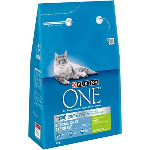 Purina One Spécial Chat Stérilisé : à la Dinde Et Au Blé Croquettes pour Chats Adultes, 4 x 3kg