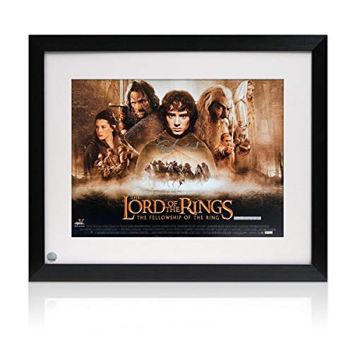 Elijah Wood (Frodo Baggins) Signed The Lord Of The Rings Poster. Framed | Autographed Movie Memorabilia