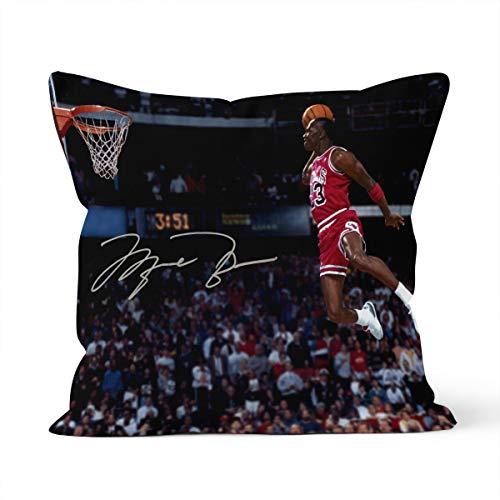 Funda de cojín con diseño de estrella de la NBA Michael Jordan Home Dormitorio, cojín decorativo, tamaño 40 x 40 cm