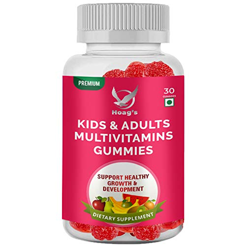 Hoag's Complete MultiVitamin Vegetarian Strawberry Gummies for Kids & Adults Supports Healthy Growth & Development and Immunity - 30 Veg Gummies