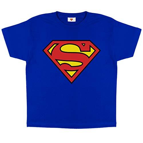 DC Comics Superman Logo Classic Logo Boys Camiseta Royal Blue 13-14 años