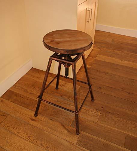 Bistrotisch Stil Verstellbar Stuhl Urban Vintage Industriell Rustikale - verbrannt kupfer