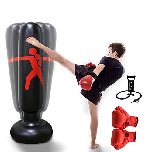 GJXJY Saco de Boxeo Hinchable Adulto, Saco de Boxeo Autoesta
