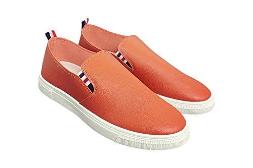 J.STORE [ジェイストア] メンズ トリコロール スリッポン デッキ シューズ 大人 紳士 ビジネス 幅広 アルキヤスイ 歩きやすい 通勤 オシャレ すりっぽん あるきやすい 疲れにくい キャンバス カジュアル デザイン 靴 おしゃれ かわいい 可愛い かっこいい ファッション かかと やわらかい はばひろ スニーカー パカパカ ペタンコ ヒモ なし オレンジ 26 cm J19 OR42