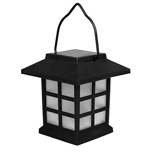 Solarline 403416Borne solare lanterna nera, Nero, 8,5x 12x 9cm