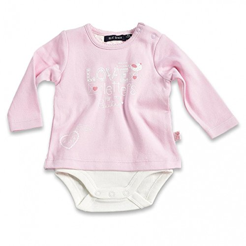 Blue Seven Baby Mädchen Body-Shirt (Kombination aus Shirt und Body) Langarm Love Letters 481000 (62, ROSA Orig)