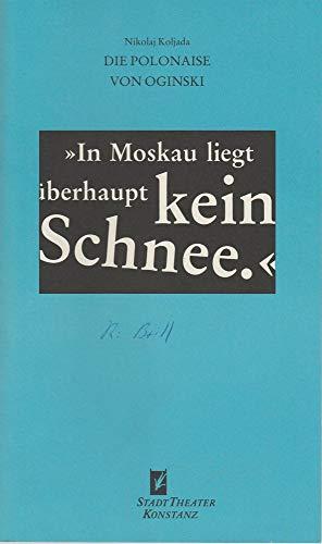 Programmheft Die Polonaise von Oginski. Schauspiel von Nikolaj Koljada. Premiere 5. Oktober 1994 Spielzeit 1994 / 95 Nr. 2