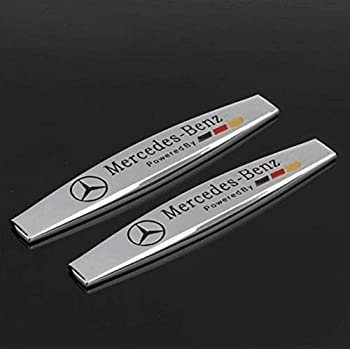 YONGHONG Side Wing Emblem Badge Sticker Wing Fender Metal for Benz A B GLA CLA C E S GLK SLK CLS SL Class AMG red