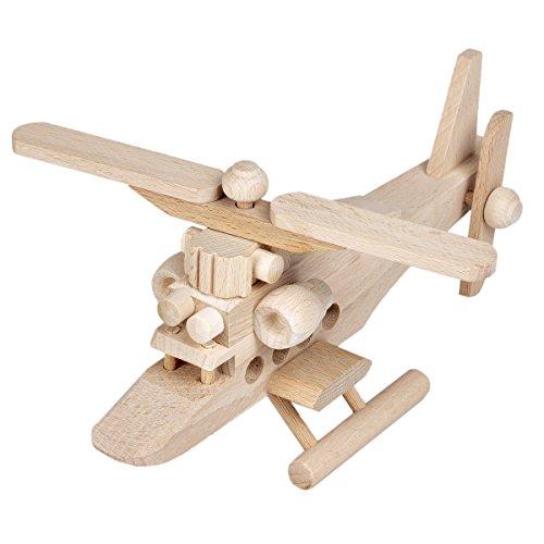Hubschrauber aus Holz Spielzeug Holzspielzeug Helikopter