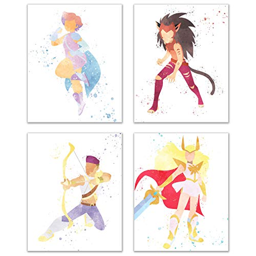Watercolor She-Ra and the Princesses of Power Poster Prints...