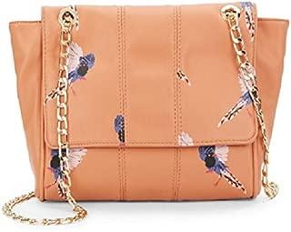 Deux Lux Anguilla Bird-Print Faux Leather Gold-Tone Adjustable Shoulder Bag