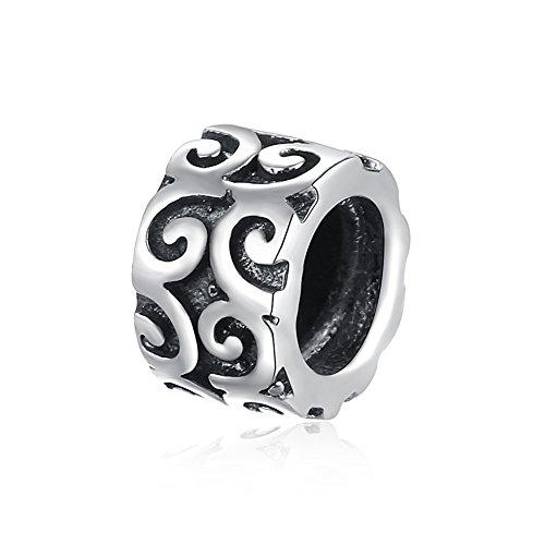 NYKKOLA Irish Celtic Swirl Flower Stopper Spacers Sale 925 Sterling Silver Charms Beads Cheap fit Pandora Bracelet