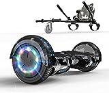 GeekMe Hoverboards con Hoverkart 6.5 Pollici Scooter Auto bilanciamento Sicurezza LED e Altoparlante...