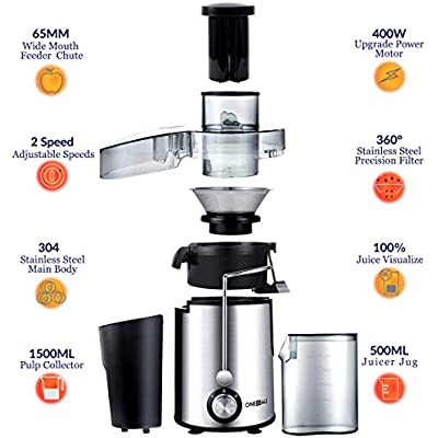 ???Cheap 'Juicer, Oneisall Juice Extractor with Anti Drip