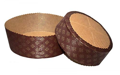 ARCOBALENOPARTY n° 10 Stampo per PANETTONE 500 gr Basso in Carta Forno Monouso - Ideale per...