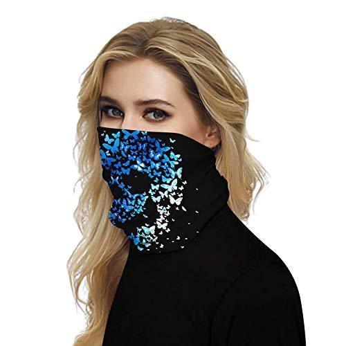 Multifunktionale Gesichtsmaske, Sturmhaube, bunt, Stirnband, Schal, Halstuch, Sonne, UV-Schutz, nahtlos Gr. Einheitsgröße, Farbe 29