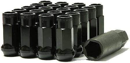 Muteki 32906B SR Series Black 12mm x 1.5mm SR48 Open End Lug Nut Set, (Set of 20)