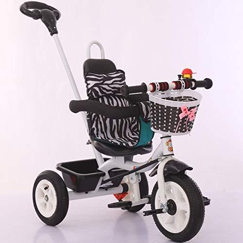GWCD-STC Triciclos Nueva Bicicleta Infantil con toldo para triciclos de bebé para niña de Triciclo Infantil 1-2-3-4-5 años Sillas de Paseo (Color : A, Size : 1)
