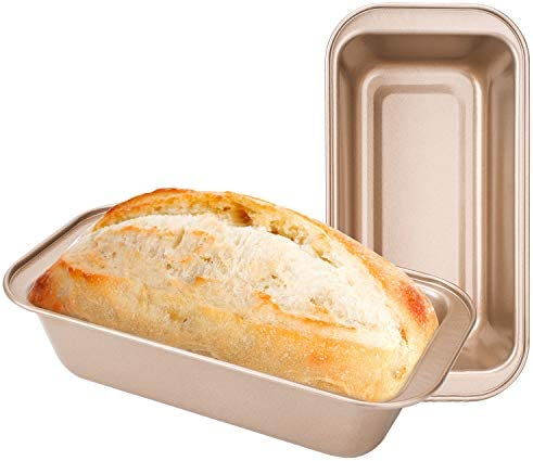 Loaf Pans for Bread Baking Beasea 2pcs Nonstick Bread Pans 8 5 x 4 5 Inch Bread Loaf Pans Golden product image