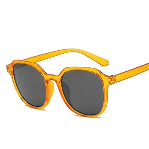 ShSnnwrl Único Gafas de Sol Sunglasses Gafas De Sol Redondas Retro Mujer Hombre Diseñador Mujer Gafas De Sol Espejo Feminino Lune