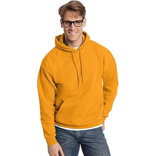 Hanes ComfortBlend EcoSmart Pullover Hoodie Sweatshirt_Gold_XL
