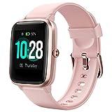Letsfit Smartwatch, Sportuhr Touchscreen Fitnessuhr IP68 Wasserdicht Fitness Armbanduhr Schrittzähler Uhr mit Pulsmesser Schlafmonitor, Smart Watch für Damen Herren für Android iOS...