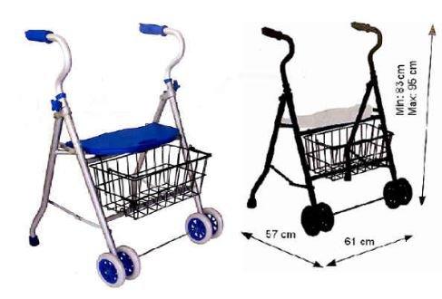 Andador de aluminio 2 ruedas y cesta ⭐