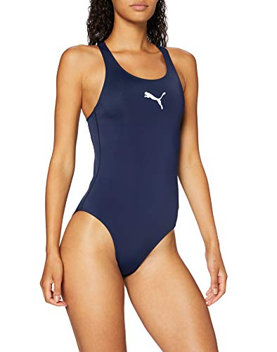 PUMA Women\'s Damen Badeanzug Racerback, Navy, XS
