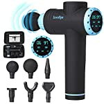 Percussion Massage Gun for Athletes - Percussive Handheld Deep Tissue Back Massager for Sore Muscle Pain Relief & Recovery - Portable Electric Body Massager Sports Drill - Rechargeable 6 Speeds Gift