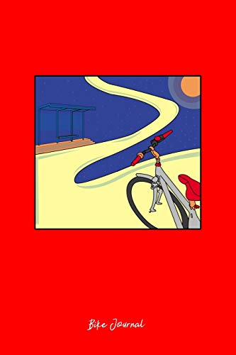 mountain bike galaxy Journal: Dot Grid Journal - Galaxy Biker Mountain Bike Planet Cute Christmas Gift - Red Dotted Diary