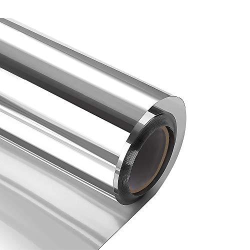 XtraCare Pantalla para ventana de protección solar, opaca, protección contra el calor, lámina de espejo, para ventana de techo, protección térmica, plateada, 90 x 200 cm