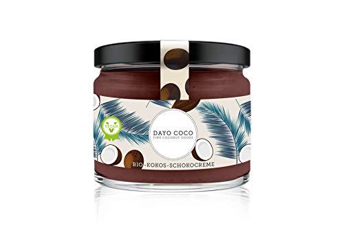 DAYO COCO Bio Kokos-Schokocreme 280 ml, Schokoladen Brotaufstrich, 100% Vegan & Bio, ohne Palmöl, mit Agave gesüßt, Nussfrei