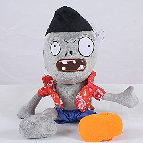 N/D Kuscheltier 30cm Pflanze gegen Zombies 2 Zombies Cosplay Plüschtiere PVZ Flugzeugkopf Zombie Plüschtier Puppe Weiche Kuscheltiere für Kinder Kinder Geschenk