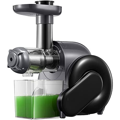 Slow Juicer, Entsafter Gemüse und Obst mit Ruhiger Motor & Umkehrfunktion & Saftkanne & Reinigungsbürste