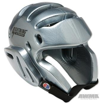 ProForce Lightning Sparring Headgear - Silver - Large