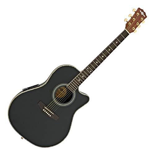 Roundback-Elektroakustik-Gitarre von Gear4music schwarz