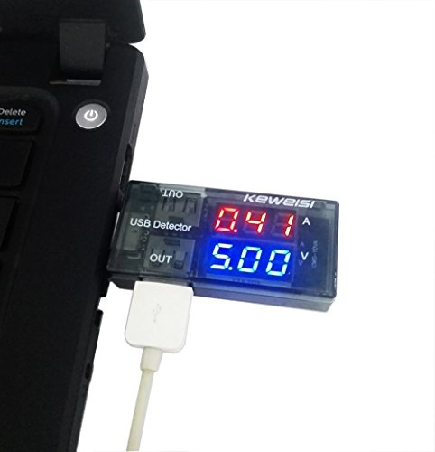 nicebuty 5A/9V LED pantalla Multi Tester Dual Power Bank, Cargador USB Detector de corriente de salida para el teléfono