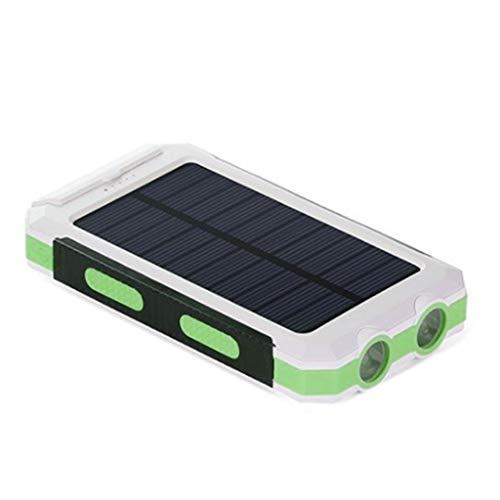 Solar Powerbank 20000mAh Power Bank Tragbare Ladegerät Wasserdichte Dual LED Taschenlampen Und Comp-Aisumi