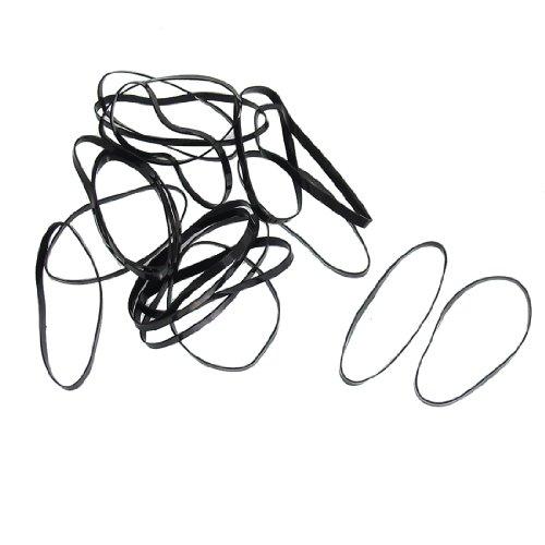 Sourcingmap Attache élastique pour queue de cheval Noir 80 pièces