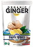 Happy Andes Organic Ginger Powder - Pure Ground Dried Root Superfood - Powdered Herbal Supplement for Natural Weight Loss and Strong Immunity, - Hot Tea for Drinking and Seasoning Spice for Cooking