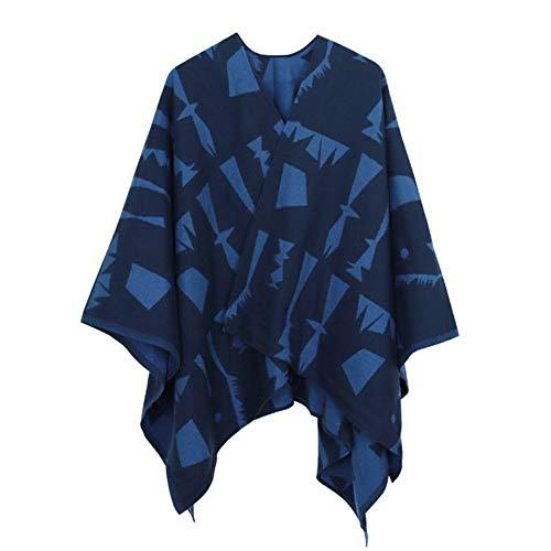 CHENGWJ sjaal sjaal Poncho Voor Dames Winter Geometrische Sjaal kasjmier wol Poncho Foulard Femme Print Vrouwelijke Sjaal