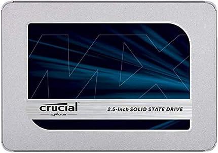 Crucial MX500 1TB CT1000MX500SSD1(Z) Unidad interna de estado sólido-hasta 560 MB/s (3D NAND, SATA, 2.5 Pulgadas)