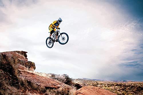 1art1 Mountain Biking - Take Me Higher XXL Poster 120 x 80 cm