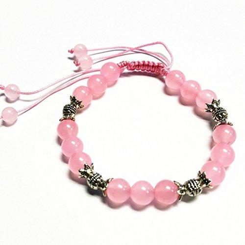 Feng Shui Handmade Pink Rose Quartz Crystal Bracelet...
