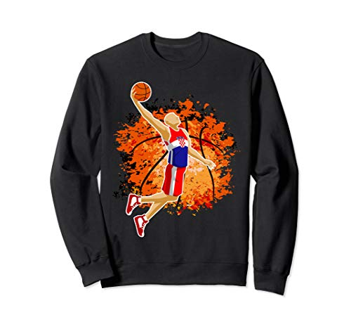 Croatia National Basketball Jersey Croatian Slam Dunk Gift Sweatshirt