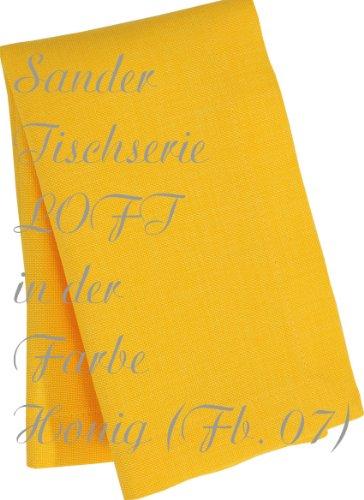 Sander Tischdecke LOFT Fb 09 zitrone mit FLECKSCHUTZAUSRÜSTUNG Größe wählbar (150x250)