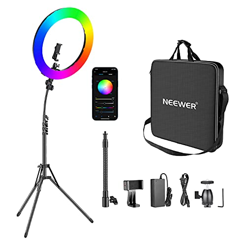Neewer 18-inch RGB Ring Light with APP...
