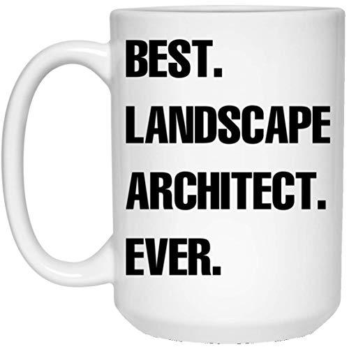 N\A Taza de café Blanca Divertida del Mejor Arquitecto paisajista de Todos los Tiempos